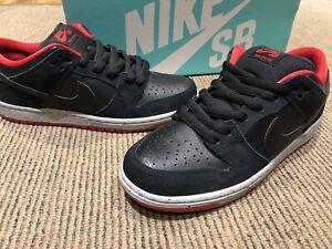 "Nike Dunk Low Pro SB ""Black Cement"" 304292-050 Black/Wolf Grey/Un. Red SIZE 8 US"