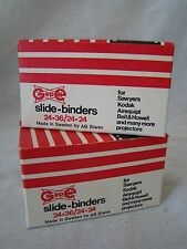 2 Boxes of Vintage GEPE 24x36/24x24 Glass Slide Binders New Old Stock 131524
