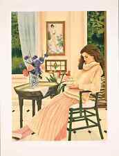 """Susan Rios - """"The New Place"""", hand-signed serigraph on paper"""