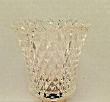 Home Interior Clear Glass Diamond Cut Homco Peg Votive Cup Candle Holder