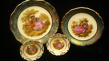 """Limoges France porcelain miniature plates 4""""  - 3.25"""" and 1.25"""" four small plate"""