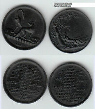 Eisengußmedaillen bzw. Whistmarken eine sign. LOOS zwei Stück (mm204) ca. 27 mm