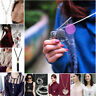 Fashion Women Crystal Pendant Necklace Long Sweater Chain Jewelry Clothes Match