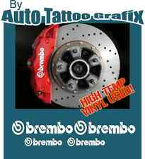 HIGH TEMP BREMBO BRAKE CALIPER DECAL STICKER SET X4 RALLY DRIFT JDM MOTORSPORT