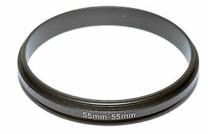 Coupling Ring Male-Male Thread 55-55mm Double Lens Reverse Macro Adapter