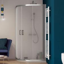 Box doccia 70x90 alluminio semicircolare asimmetrico cristallo temperato opaco