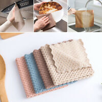 24.5*24.5cm Dishcloth Soft Nonstick Oil Coral Velvet Home Cleaning Kitchen Acces