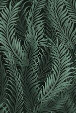 Fabric #2525, Charcoal Fern Leaves on Black, Jason Yenter, IBF, Sold by 1/2 Yard