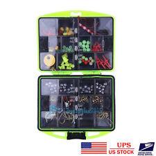 24x Assorted Fishing Tool Kit Tackle Box Full Loaded Lure Bait Hooks w/Box