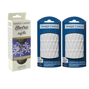 2 x WHITE plugs/REFILLS YANKEE CANDLE Scent Plug In MIDNIGHT JASMINE STARTER SET
