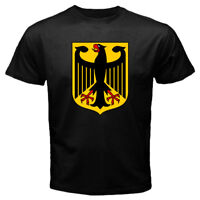 New Germany German Coat Of Arms Men's Black Tee T-shirt Size S-3XL FREE SHIPPING