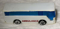 Vintage Toy Bus Plastic Unbranded Ambulance Rescue Blue Tinted Windows