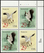 US #2867-2868 29¢ Black-Necked & Whooping Crane - Block of 4 Postage Stamps MNH