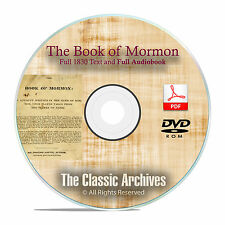The Book of Mormon, 1830 Edition, Text + Audio Book, by Joseph Smith DVD CD F28
