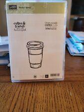 Stampin' UP!  PERFECT BLEND Stamp Set. Coffee Mocha Latte Friends. Set of 3  EUC