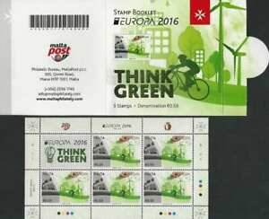 Malta 2016 Europa CEPT, Think Green, Ecology MNH** booklet