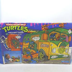 1989 Vintage Teenage Mutant Ninja Turtle Van Party Wagon Complete With Box