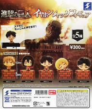 Attack on Titan Earphone Jack Figure (Dustcap) (Pluggy) (Capsule) (Gashapon)