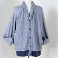 Banana Republic Cotton Cardigan Sweater L Button Front Shawl Collar Fathers Day