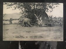 1913 Belgian Congo Real Picture Postcard Cover Rppc Elephants Trailing
