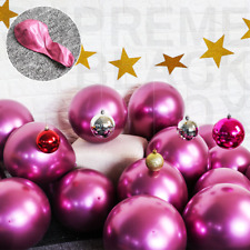 50 Pink Metallic Balloons Chrome Shiny Latex 12