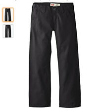 New Levi's Boys' 505 Regular Fit Chino Pants,Black, 18