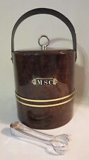 Mcm George Briard Ice Bucket Faux Marble Tortoise Turtle Shell Patent Leather