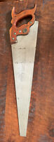 Antique Vintage HENRY DISSTON & SONS D-23 Wood WHEAT HANDLE HAND SAW