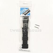 CASIO G-SHOCK 16MM BLACK RUBBER BAND STRAP W/ 2 PINS FOR DW-6600 DW-6900 GW-6900