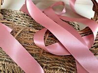 Berisfords Shade 60 Dusky Pink Double Satin Ribbon 3/7/10/15/25/35/50mm Widths