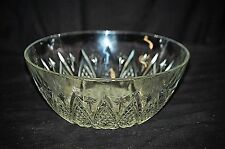 Old Vintage Clear Glass Round Serving Bowl w Stars & Arch Designs KIG Indonesia