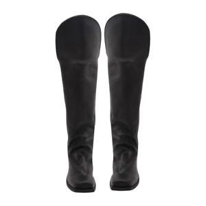 Men's Civil war Shoes Knee Flap Leather Long Boots