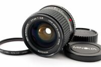 Minolta MD W.Rokkor 24mm F/2.8 Wide Angle MF SLR Lens from Japan [Exc+++++]