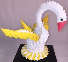 Korean Origami Swan With Eyes, Red Beak & Yellow Tail Ancient Asian Paper Craft