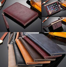 UK Leather Smart Case Stand Magnetic Cover & Hand Rope for iPad 2 3 4 Mini Air