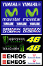 Yamaha Movistar MotoGP Decals Stickers Graphics Autocollant Aufkleber Adesivi