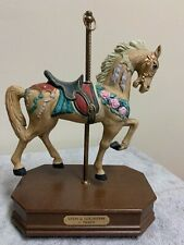 "Carousel Horse Figurine Music Box c1900s Impulse Giftware ""Stein & Goldstein"""