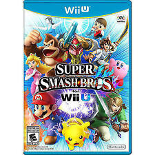 Super Smash Bros. (Nintendo Wii U, 2014) Complete with Manual