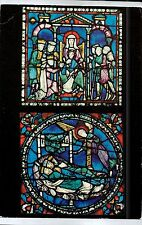 C4480cgt UK Canterbury Cathedral Adoration of Magi Stained Glass postcard