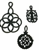 Vintage Cast Iron Trivets Lot of 3 Wall Hangings Small