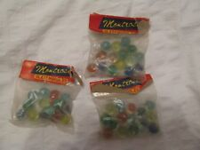 3 VINTAGE MONTROSE GLASS MARBLES IN ORIGINAL UNOPENED BAG MARBLE JAPAN