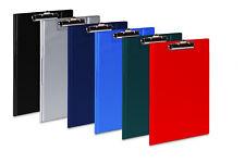 grau 3x Klemmbrettmappe Dokumentenmappe mit Klemmbrett DIN A4 Farbe