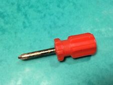 Vintage screwdriver classic car tool 82mm long red handle