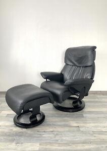 Stressless Sessel Dream Größe M Schwarz mit Hocker