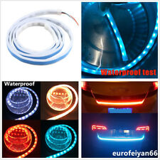 DC12V 4-Color White/Red/Yellow/Blue LED Flowing Light Car Rear Trunk Lamp Signal