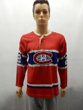 Montreal Canadians Steve Shutt Bauer wool hockey jersey vintage M 1970s red