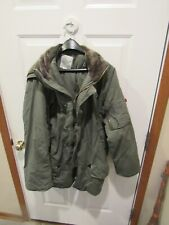 Vintage Military Type Parka N-3B Winter Coat with hood Rothco adult size small