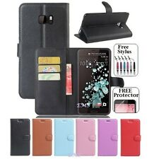 "For HTC U Ultra 5.7"" inch PU Wallet Leather Card Holder Flip Case Cover"