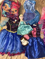 Lot of Disney & Other Princess Dress Up Pretend Play Costumes Sm/4-6 FREE Doll