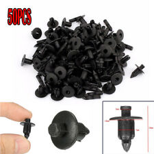 50Pcs Black 7mm Hole Fender Bumper Push Rivets Retainers Clips For Car Toyota